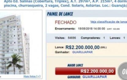 Tríplex atribuído ao ex-presidente Lula é vendido por R$ 2,2 milhões