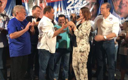 Prefeita de Guaraí declara apoio a Vicentinho em grandioso comício