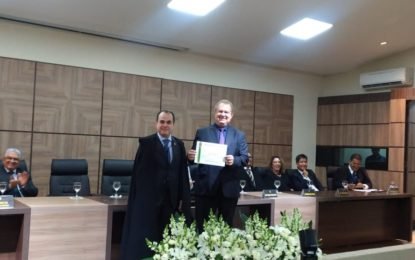 Mauro Carlesse e Wanderlei Barbosa são diplomados pelo TRE como governador e vice-governador do Tocantins