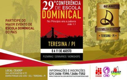 CPAD realiza 29ª Conferência de Escola Dominical em Teresina (PI)